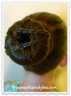 Star Bun Hairstyle Tutorial #4thofjuly #star #hairstyle