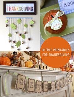 free printabl, thanksgiv printabl, 10 printabl