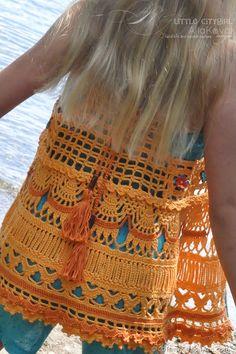 Ethno Chic Crocheted Vest by MyLittleCityGirl (Alla Koval)