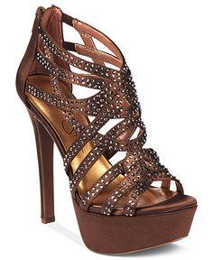 Jessica Simpson brown Platform dressy sandals.