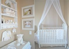 nursery in the master bedroom - small spaces    pretty on a budget