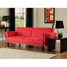 DHP Metro Futon Red - Furniture & Mattresses - Living Room Furniture - Sofas & Loveseats