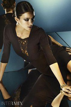 Mason Lace Inset 3/4 Sleeve Dress