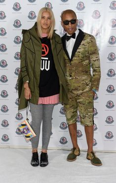 Pharrell with fiancée Helen Lasichanh