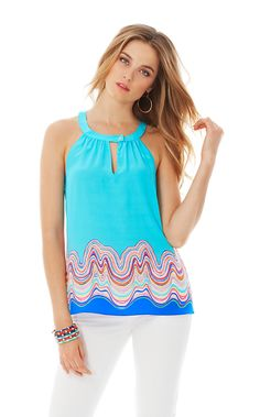 such a cute halter from the Lilly Pulitzer resort collection!