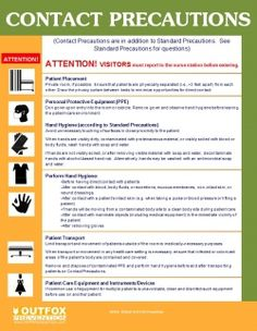 Contact Precautions Poster OUTFOX Prevention