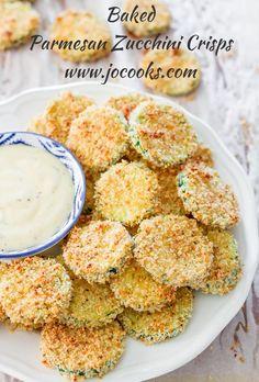 Baked Parmesan Zucchini Crisps | Jo Cooks