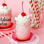 Cocktail Friday — Raspberry Italian Cream Sodas