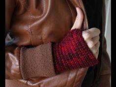 How to Crochet Fingerless Gloves Easy Beginner Video Tutorial