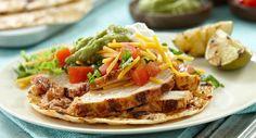 Grilled Chicken Tostadas tortilla, mexican food, grill chicken, chicken tostada, grilled chicken, chicken dish, recip, yummi food, tostadas