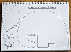 Funky Sunday: DIY: Le patron gratuit du doudou éléphant [tuto-couture inside]