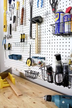 Pegboard Organization / Garage Ideas
