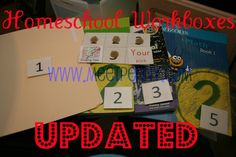 Free #homeschool printables for using the workbox or workcard system as well as organizing ideas