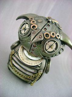steampunk owl - cute