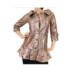 Light Gold/Grey Printed Jacket with 3/4...