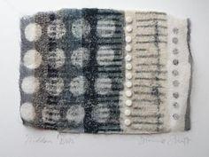 "DIonne Swift ""Hidden Dots"" 2011, 25 x 20 cm, Cotton---Needle Felting"