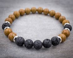 Protection bracelet Mens wrist mala bracelet Zen bracelet for