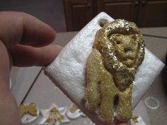 lion, salt dough, christma ornament