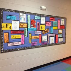 The Teacher with a Ponytail: Library Bulletin Board librari bulletin, classroom decor, school, library bulletin boards, shelving units, teacher, children librari, board idea, word clouds