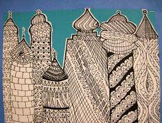 Zilker Elementary Art Class--Russian Towers