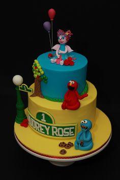 Sesame Street Cake ~ cute!
