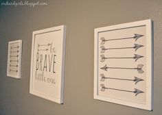 FREE Be Brave Little One and Arrows Nursery Printables