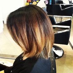 Shoulder-Length Ombre Hair | Ombre Highlights Medium Length Hair