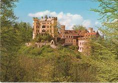 vintage postcards, era postcard, hohenschwangau castl