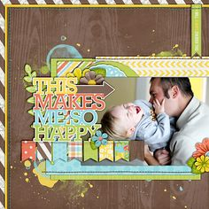 #papercraft #scrapbook #layout. 022213sohappy700 this makes me happy scrapbook# page # layout