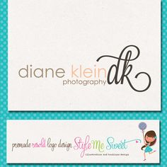 Custom Premade Photography Logo  Script by stylemesweetdesign, $35.00