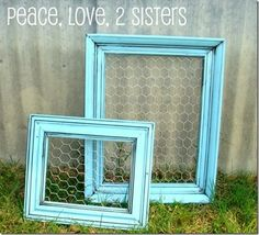 chicken wire + old frame = easy organizers #DIY #Wire #frame #organize