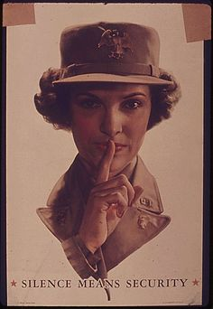 Silence means security--WW II poster