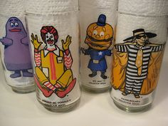 McDonalds collector glasses... we had these.