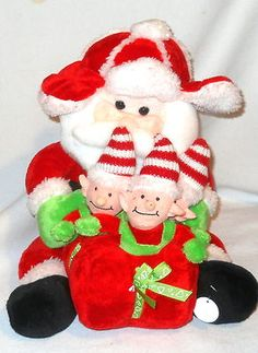 "Animated Christmas Santa With Elves sings ""Deck The Halls ""    http://www.ebay.com/itm/221108297560?ssPageName=STRK:MESELX:IT&_trksid=p3984.m1555.l2649"