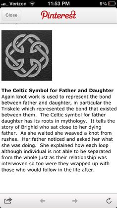... daughter tattoos...knot representing the bond of father and daughter