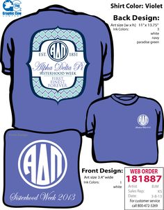 Alpha Delta Pi Virginia Tech Sisterhood Shirt