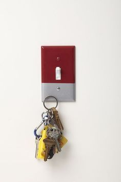 Magnetic Light Switch Cover. It holds keys!