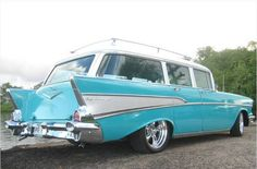 1957 Chevy Nomad Wagon. Custom Wheels. nomad wagon, door wagon