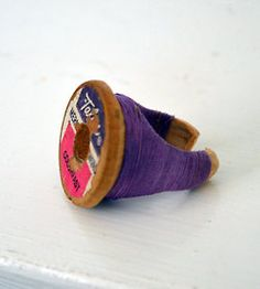 thread spools, crafti, vintage, spool ring, craft idea
