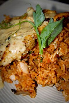 Pan fried chicken with dirty rice