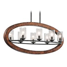 Kichler Lighting Kichler Pendant Light with Clear Glass in Auburn Stained Finish | 43191AUB | Destination Lighting