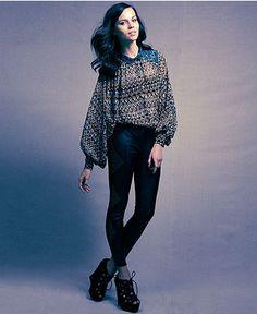 Gotta have Nicole Richie for Impulse Pants, Skinny Ponte Studded Leggings. #macysfallstyle