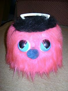 I had this!!! A 1970s Fuzzy Monster 45 record holder  He had a comb for his mouth, that could be put back into place.