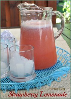 Strawberry Lemonade A Pinch of Joy Not sweet, not tart and full of healthy strawberries and lemon