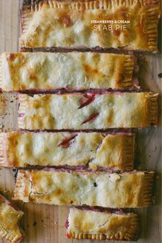 Strawberry & Cream Slab Pie |   Read more - http://www.stylemepretty.com/living/2013/07/03/strawberry-cream-slab-pie/