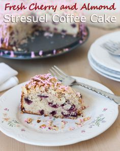 Cherry Almond Streusel Coffee Cake recipe from Barbara Bakes