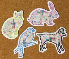 kid sewing projects, animals, fun friday, blackfriday, cards diy