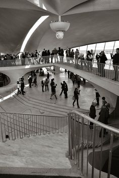 TWA Terminal at JFK - Eero Saarinen,feat of engineering,invisible web of steel raced within reinforced concrete