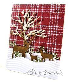 Snowy Tree and Deer