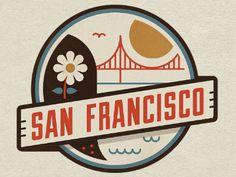 graphic design, badg, jesus, sanfrancisco, logos design, travel posters, place, vintage logos, san francisco